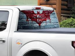 Vinyl Car Rear Window Full Color Graphics Decal Deadpool Sticker