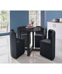 round glass dining table set argos