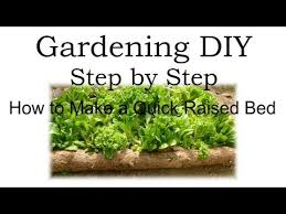 how to make a raised garden bed you