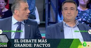 Ortega Smith (Vox) amenaza en 'LaSexta Noche' a Esteban (PNV) con  ilegalizar su partido | El HuffPost