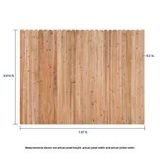 Severe Weather 6 Ft H X 8 Ft W Cedar Dog Ear Fence Panel In The Wood Fence Panels Department At Lowes Com