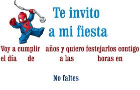 Invitaciones De Cumpleanos De Spiderman Para Descargar Gratis 19