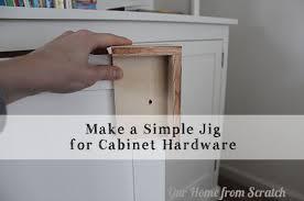 simple homemade jig for cabinet door pulls