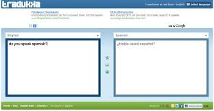 translate english words to spanish in real time online how to