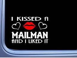 Mailman Kissed L951 8 Us Mail Window Decal Sticker Etsy