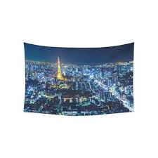 City Wall Art Home Decor Tokyo Skyline At Night Tapestry 80x60inch 150x200cm Buy At A Low Prices On Joom E Commerce Platform