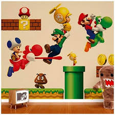 Znu Super Mario Wall Decals Stickers Diy Removable Stick Baby Boys Girls Kids Room Nursery Wall Mural Decor Epic Kids Toys