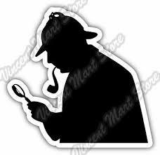 Sherlock Holmes Detective Car Bumper Vinyl Sticker Decal 4 X5 Ebay