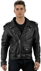 c128 mens cowhide basic biker jacket