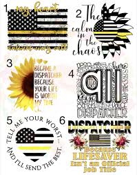 Dispatcher 911 Gold Line Waterslide Laser Printed Laser Decals T Made By Momma Waterslides
