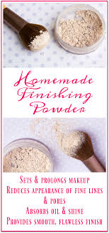 homemade finishing powder primally