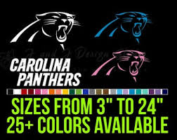 Carolina Panthers Decal Etsy