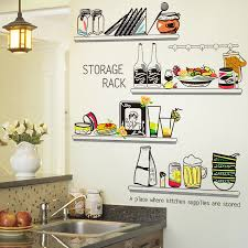 Shijuehezi Kitchen Sticker Pvc Material Diy Storage Shelf Wall Decals For Dining Room Cupboard Fridge Glass Decoration Bemmengurun