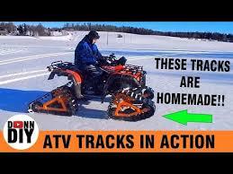 homemade atv tracks for trx500