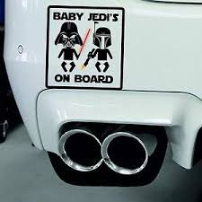 Baby Jedi S On Board Baby On Board Car Sign Window Safety Decal Sticker Vinyl Ebay
