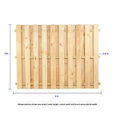 6 Ft H X 8 Ft W Pressure Treated Pine Dog Ear Fence Panel In The Wood Fence Panels Department At Lowes Com