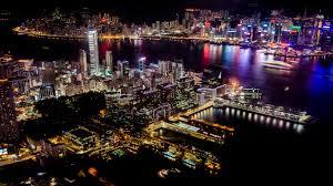 lights hong kong deck night time