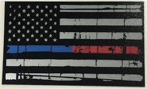 Thin Blue Red Line American Flag Sticker