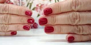 Short Nails Red Nails Square Nails Krotkie Paznokcie Kwadratowe