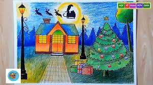 ART#2  Vẽ Tranh Đề Tài Lễ Hội Noel - painting the theme of ...