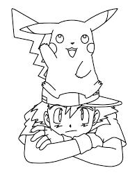 Kleuren Nu Ash En Pikachu Kleurplaten