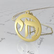 round pendant in 10k yellow gold