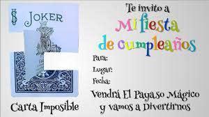 Invitacion A Cumpleanos Carta Imposible Magia Ciencia Juegos