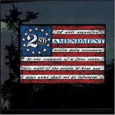 2nd Amendment Flag Full Color Decal Sticker Custom Sticker Shop