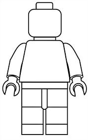 Lego Mini Fig Drawing Template Lego Poppetje Lego Kleurplaten