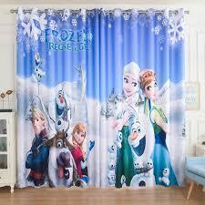 Custom Made 2x Grommet Window Draperies Curtain Nursery Kids Children Room Window Dressing Snow Flake Ice Princess Blue Glass Curtains Room Windowcustom Made Aliexpress