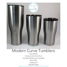 Modern Curve Tumbler Customize Your Own
