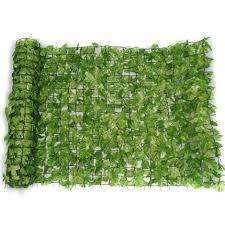Artificial Ivy Hedge Screening 1m X 3m Roll Cover Fence Wall Garden Green Leaf Rhab 6jk9