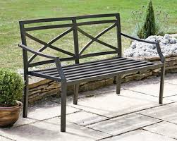 metal garden bench ideas for home