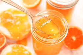 orange jelly sunshine in a jar bowl