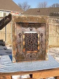 copper flash cast iron fireplace insert
