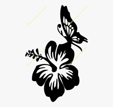 Butterfly Hibiscus Decal Clipart Car Window Decal Flower And Butterfly Decals Car Free Transparent Clipart Clipartkey