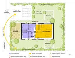 plan de maison plain pied 90 m² avec 3
