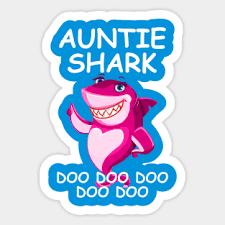 Auntie Shark Stickers Teepublic