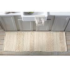 woven cotton fringe runner throw rug