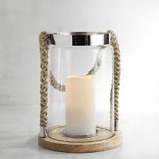 nautical rope large glass lantern
