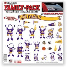 Louisiana State University Car Decals Decal Sets Lsu Tigers Car Decal C Secstore Com