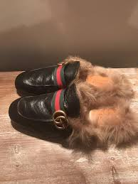 gucci princetown leather slipper with