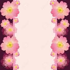 Tarjeta De Felicitacion O Invitacion Festiva Con Flores De Color