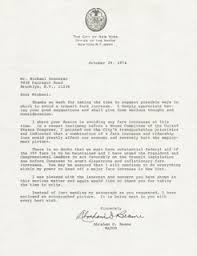 Mayor Abraham D. Beame - Typed Letter Signed 10/29/1974 | HistoryForSale  Item 17669