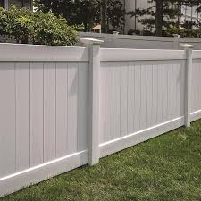 Freedom Ready To Assemble Bolton 4 Ft H X 8 Ft W White Vinyl Flat Top Fence Panel Lowes Com In 2020 Vinyl Fence Panels Vinyl Fence Fence Panels