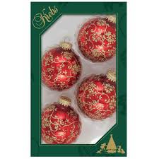 decorated boxed glass ball ornament