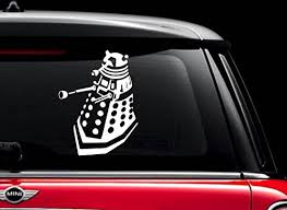Dalek Doctor Who White 6 Vinyl Decal Sticker For Car Automobile Window Wall Laptop Notebook Etc Any Smooth Surface Such As Windows Bumpers Buy Products Online With Ubuy Lebanon In Affordable