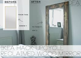 diy upcycled ikea mirror frame