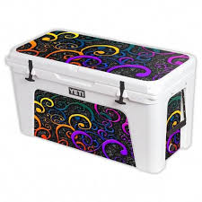 Mightyskins Protective Vinyl Skin Decal For Yeti Tundra 125 Qt Cooler Wrap Cover Sticker Skins Color Swirls Purple Yeti Tundra Yeti Coolers Cool Wraps