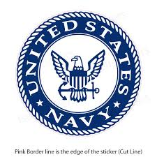 Us Navy Eagle Logo Military Bumper Sticker Vinyl Window Decal